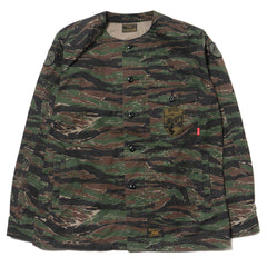 WTAPS Scout LS 01 / Shirt. Cotton. Twill. Tiger Stripe