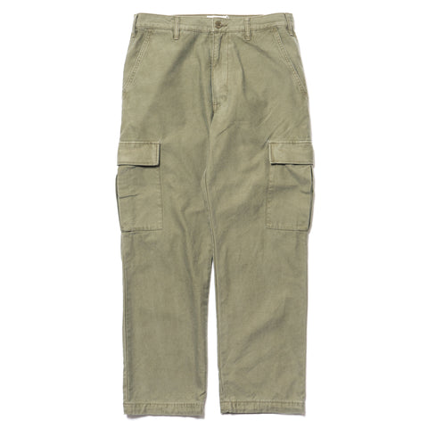 wtaps Stock / Trousers. Cotton. Satin Olive Drab