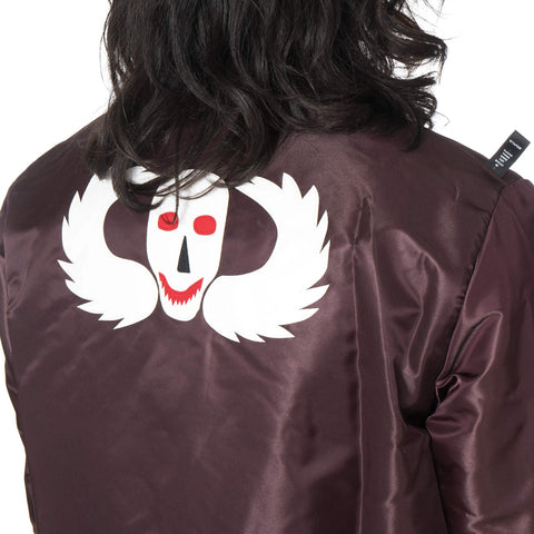 WTAPS Team JK / Jacket. Nylon. Satin Burgundy