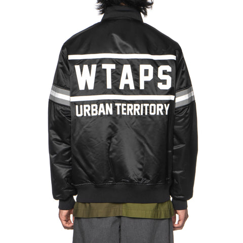 wtaps Team / Jacket. Nylon. Satin Black