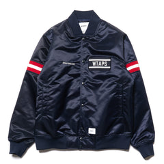 wtaps Team / Jacket. Nylon. Satin Navy