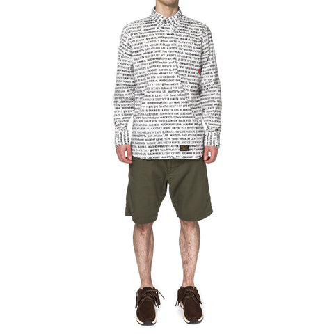 WTAPS Textile LS / Shirt. Cotton. Textile White