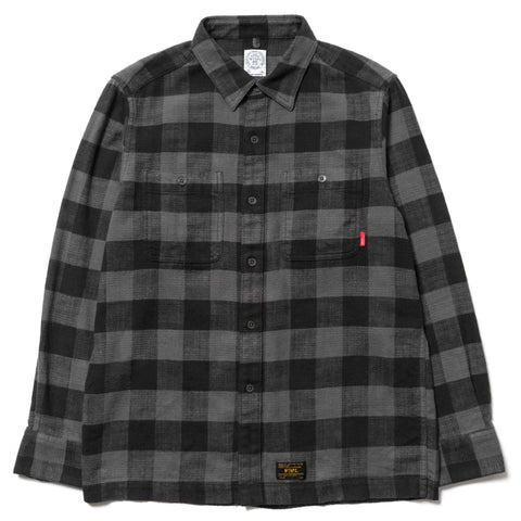 WTAPS Union LS / Shirt. Cotton. Textile Gray
