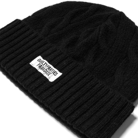 Wacko Maria Cable Knit Watch cap Black