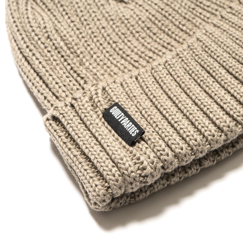 wacko maria Cotton Knit Watch Cap Beige