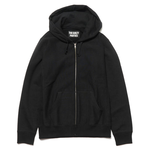 wacko maria Heavy Weight Full Zip Hooded Sweat Shirt (Type-2) Black