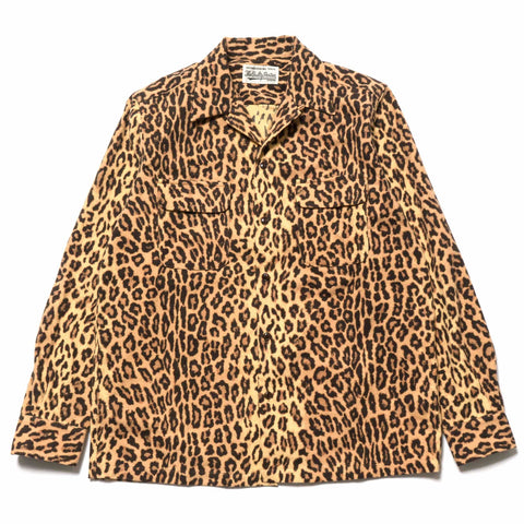 wacko maria Leopard Flannel Open Collar Shirt