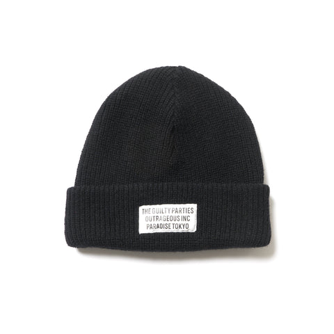WACKO MARIA Plain Knit Watch Cap Black