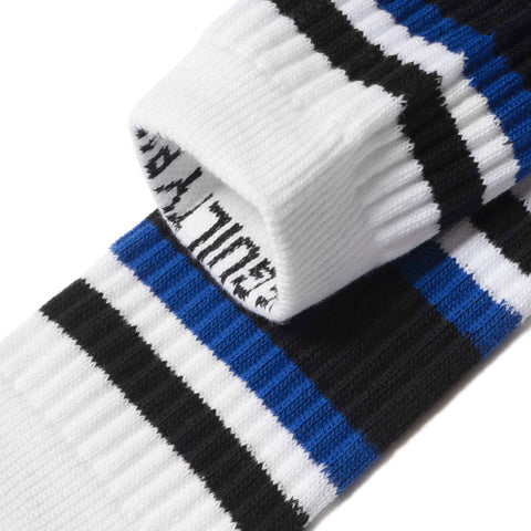 wacko maria Skater Socks (Type-1) White/Blue