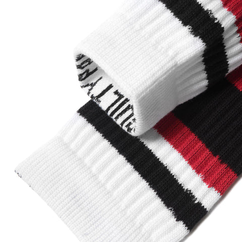 wacko maria Skater Socks (Type-1) White/Red