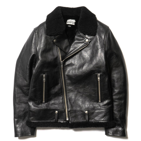 wacko maria x T.Noguchi Double Riders Leather Jacket