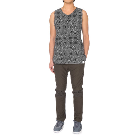 White Mountaineering Flower Printed Jacquard Tanktop