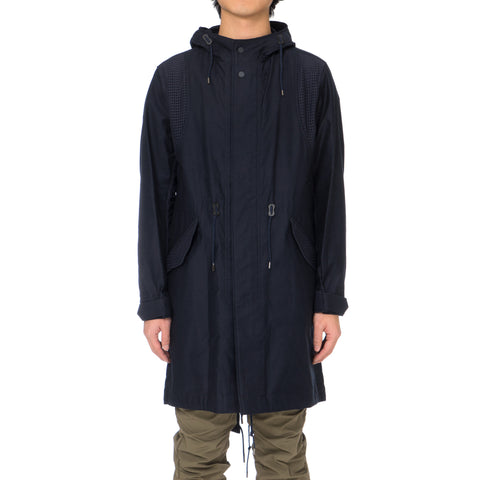 White Mountaineering Mesh Combination Mods Coat