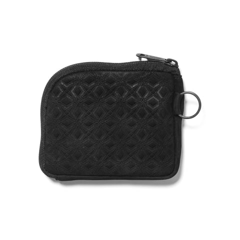 White Mountaineering Porter Mosaic Pattern Embossed Leather Wallet Black