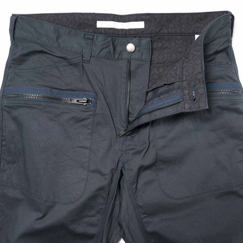 White Mountaineering Stretch Triple Needle Puckering Pants Navy