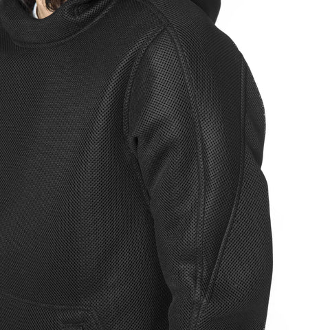 wings + horns Dimension Mesh Hooded Pullover Black