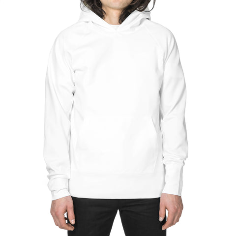 wings + horns Neo Knit Hooded Pullover White