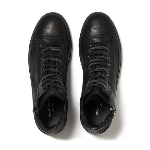 wings + horns Classic Hi Black/Black