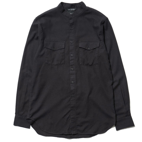 wings + horns Cotton Flannel Banded Collar Shirt