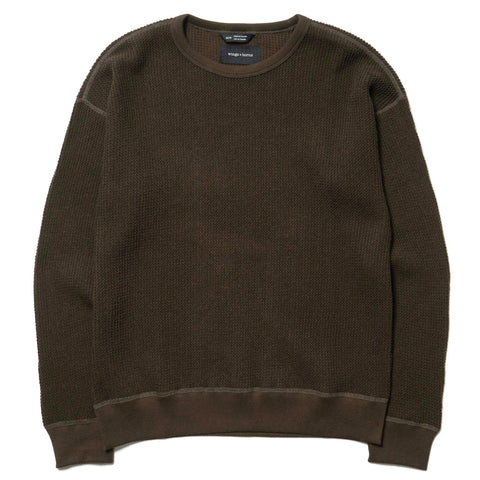 wings + horns Knit Wool Crewneck Olive