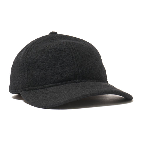 wings + horns Sherpa Wool 6-Panel Hat Black