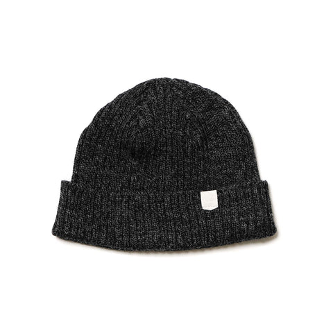 Maple Wool Knit Beanie Charcoal