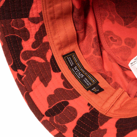 wtaps Bucket Hat / Hat. Cotton Camo Orange