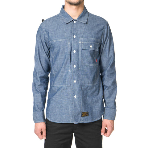 wtaps Deck LS / Shirt. Cotton. Chambray