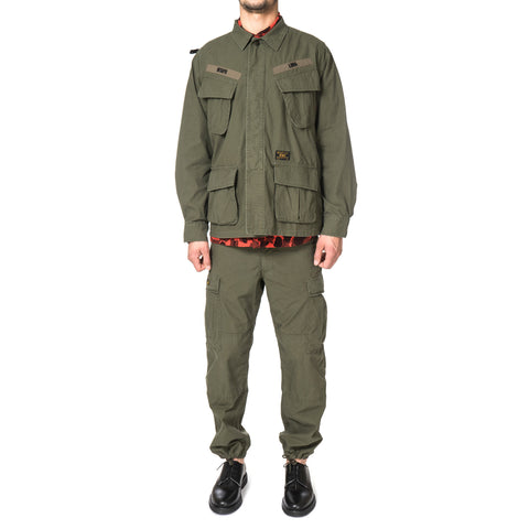 wtaps Jungle L/S / Shirts. Cotton. Ripstop. olive
