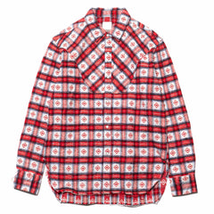 YSTRDY'S TMRRW Guess Check Rodeo Shirt Red