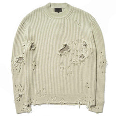 Destroyed Military Rib Sweater