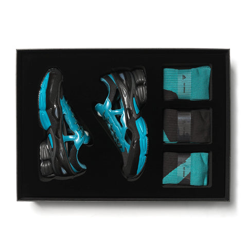 df760d3cb057ca x Raf Simons RS Replicant Ozweego with Socks Black   Colonial Blue ...