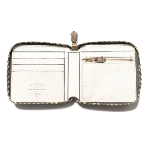 foot the coacher Square Wallet Gray/Light Gold