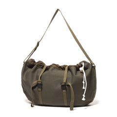 hobo Cotton Canvas Round Shoulder Bag Olive