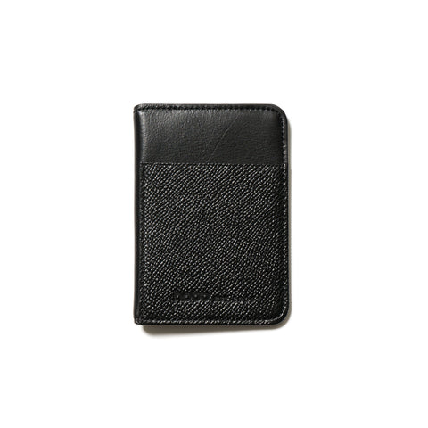 hobo Cow Leather Card Case black