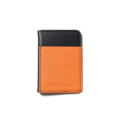 hobo Cow Leather Card Case Navy