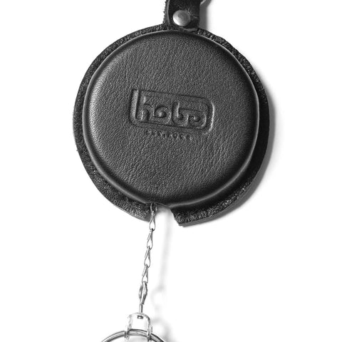 hobo Cow Leather Reel Key Chain Black