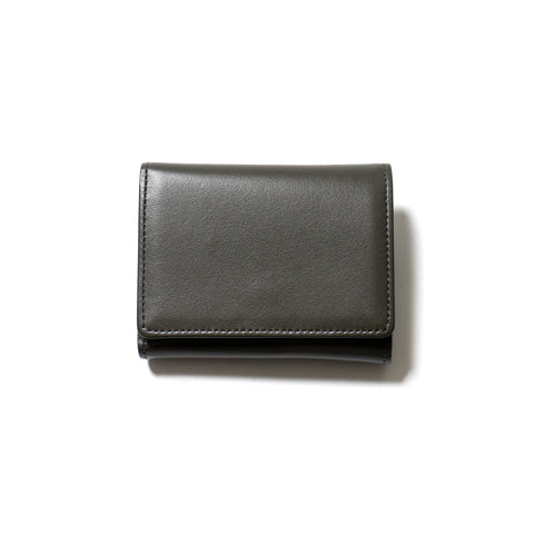hobo Cow Leather Trifold Wallet Olive