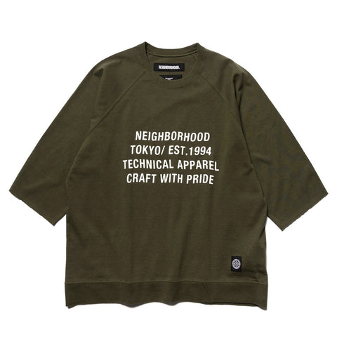 NEIGHBORHOOD BD / C-Crew . 3Q Olive Drab, Sweaters