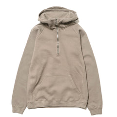 nonnative Coach Half Zip Hoody Cotton Sweat Overdyed Cement