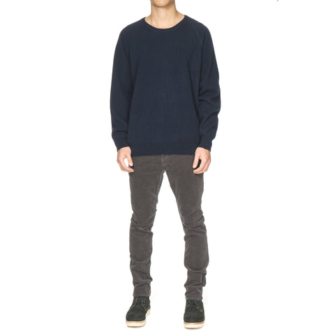 nonnative Coach Sweater Cashmere Yarn Deep Sea