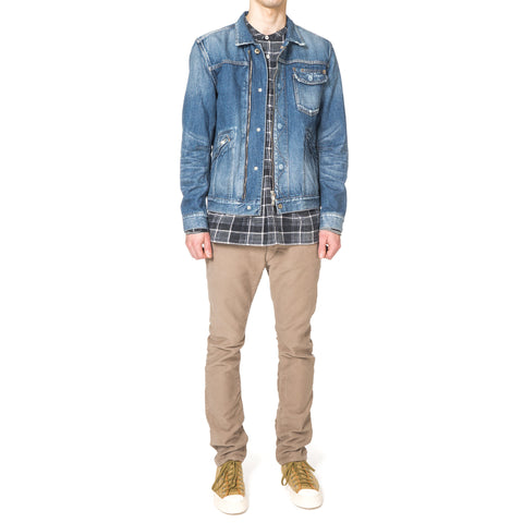 nonnative Dweller 5P Jeans Usual Fit Cotton Moleskin Overdyed