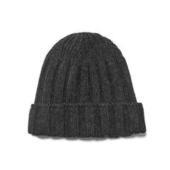 nonnative - Dweller Beanie Shetland Wool Yarn Black