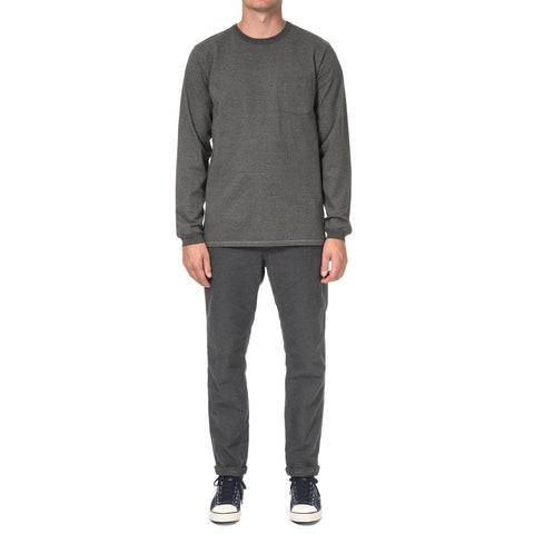 nonnative Dweller L/S Tee Cotton Plated Jersey Charcoal