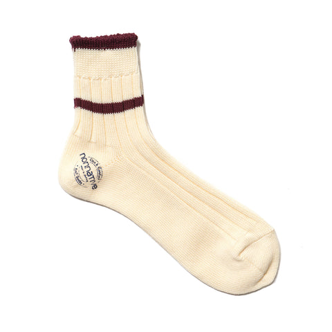 nonnative Dweller Line Socks Mid Cotton Mix Woven Wine