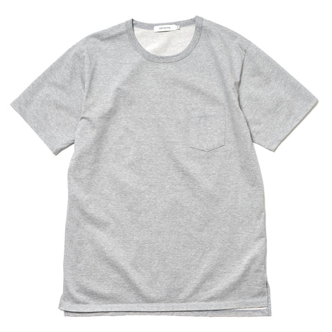 nonnative Dweller S/S Tee Cotton Plated Jersey M.Cement
