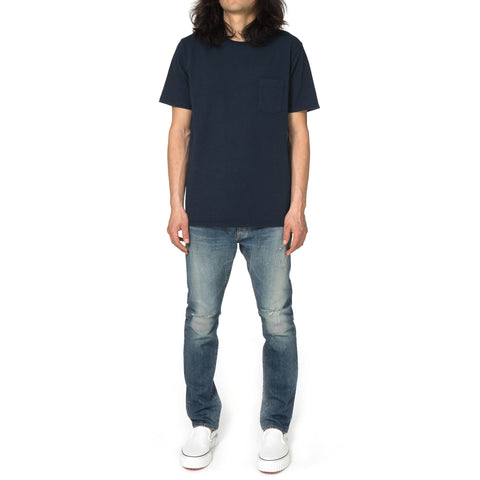 nonnative Dweller Tee S/S Cotton Heavy Jersey Overdyed Deep Sea