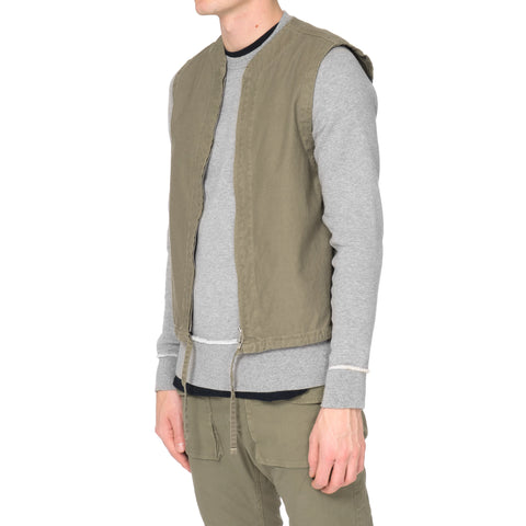 nonnative Gaurdian Vest - Cotton Olive Satin Overdyed