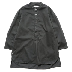 nonnative Master Pullover Shirt Q/S Cotton Twill Overdyed Charcoal