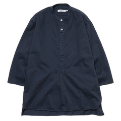 nonnative Master Pullover Shirt Q/S Cotton Twill Overdyed Deep Sea